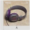 Auriculares WeSC Oboe purple stone