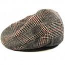 Sombrero Brixton Hooligan brown plaid M