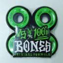 Bones 100's naturals black/green 54mm 100a