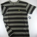 Camiseta Fallen Striped Knit black/grey